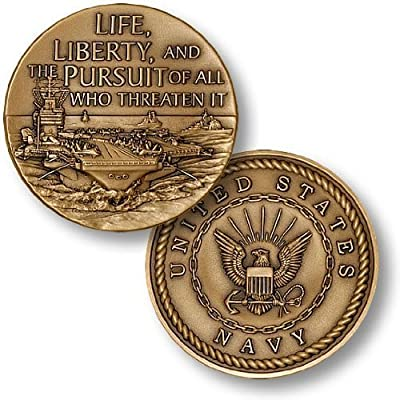 Life, Liberty, and Pursuit of All Who Threaten It Challenge Coin: Toys & Games