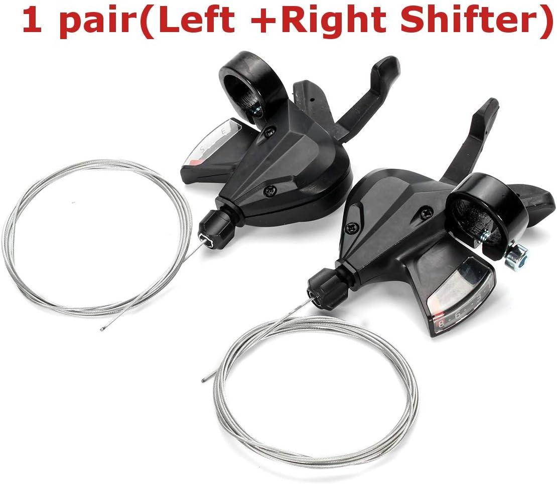 1 paire de vitesses de v/¨/¦lo VTT 3x8 vitesses v/¨/¦lo gauche droite Shifter pour Shimano Acera SL-M310 Accessoires de v/¨/¦lo