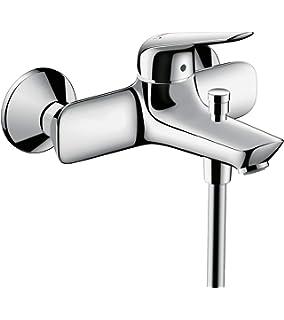 2 Verbraucher chrom /& Porter Brausehalter chrom hansgrohe Focus Aufputz Einhebel-Wannenmischer