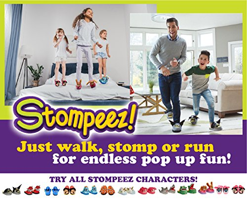 Stompeez Animated Dinosaur T-Rex Plush Slippers - Ultra Soft and Fuzzy - Mouth Opens and closes as You Walk - Medium by Stompeez (Image #4)
