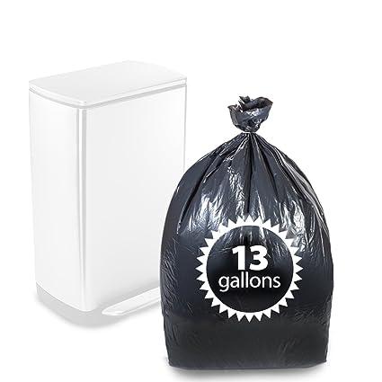 amazon com primode tall kitchen trash bags black 13 gallon 200 rh amazon com  black tall kitchen trash bags