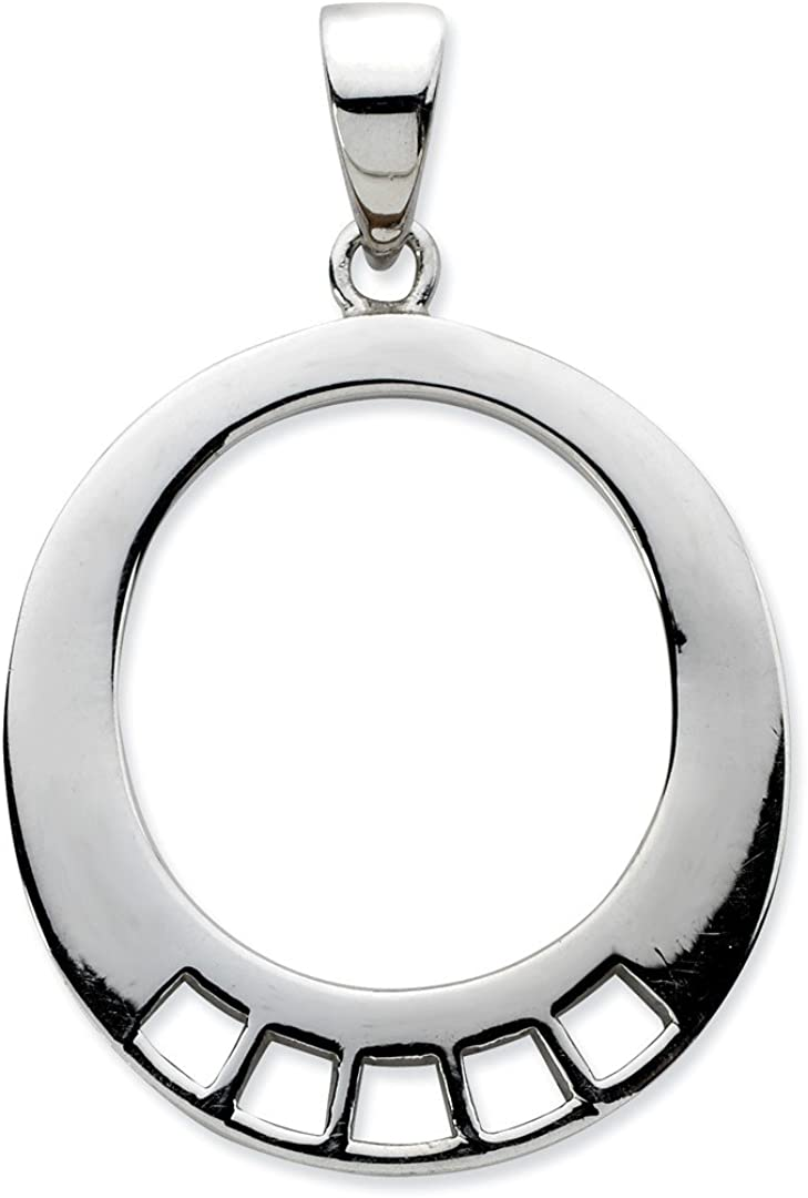 Mireval Sterling Silver #1 Grandmother Charm Holder on a Sterling Silver Chain Necklace 16-20