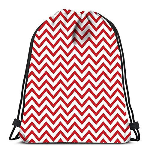 Randell Gym Drawstring Backpack Sport Bag USA Red White Blue Strips Stars Fireworks Great Idea Lightweight Shoulder Bags Travel College Rucksack for Women Men -