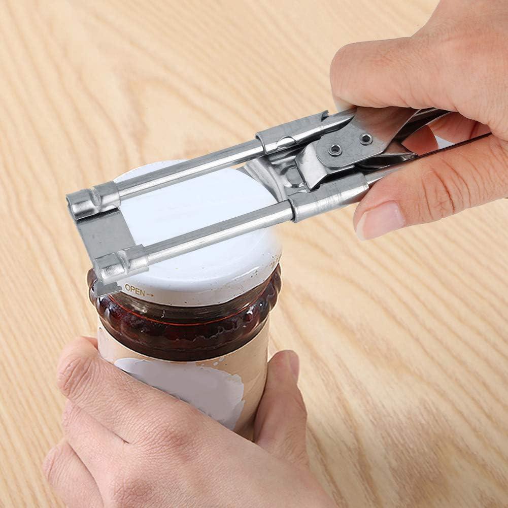 Ouvre-bocal outil de cuisine de pince de couvercle de bouteille en acier inoxydable r/églable