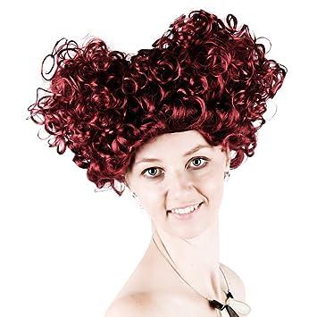 Perücken Wein Rot Liebe Kurze Haare Lockly Wig Weibliche