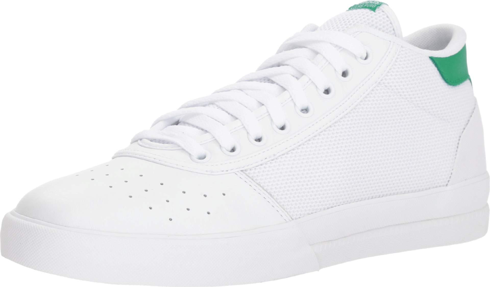 43a9e74d98e81 adidas Skateboarding Men's Lucas Premiere Mid White/White/Green 10 D US