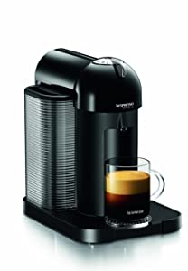 Nespresso GCA1-US-BK-NE VertuoLine Coffee and Espresso Maker, Black (Discontinued Model)