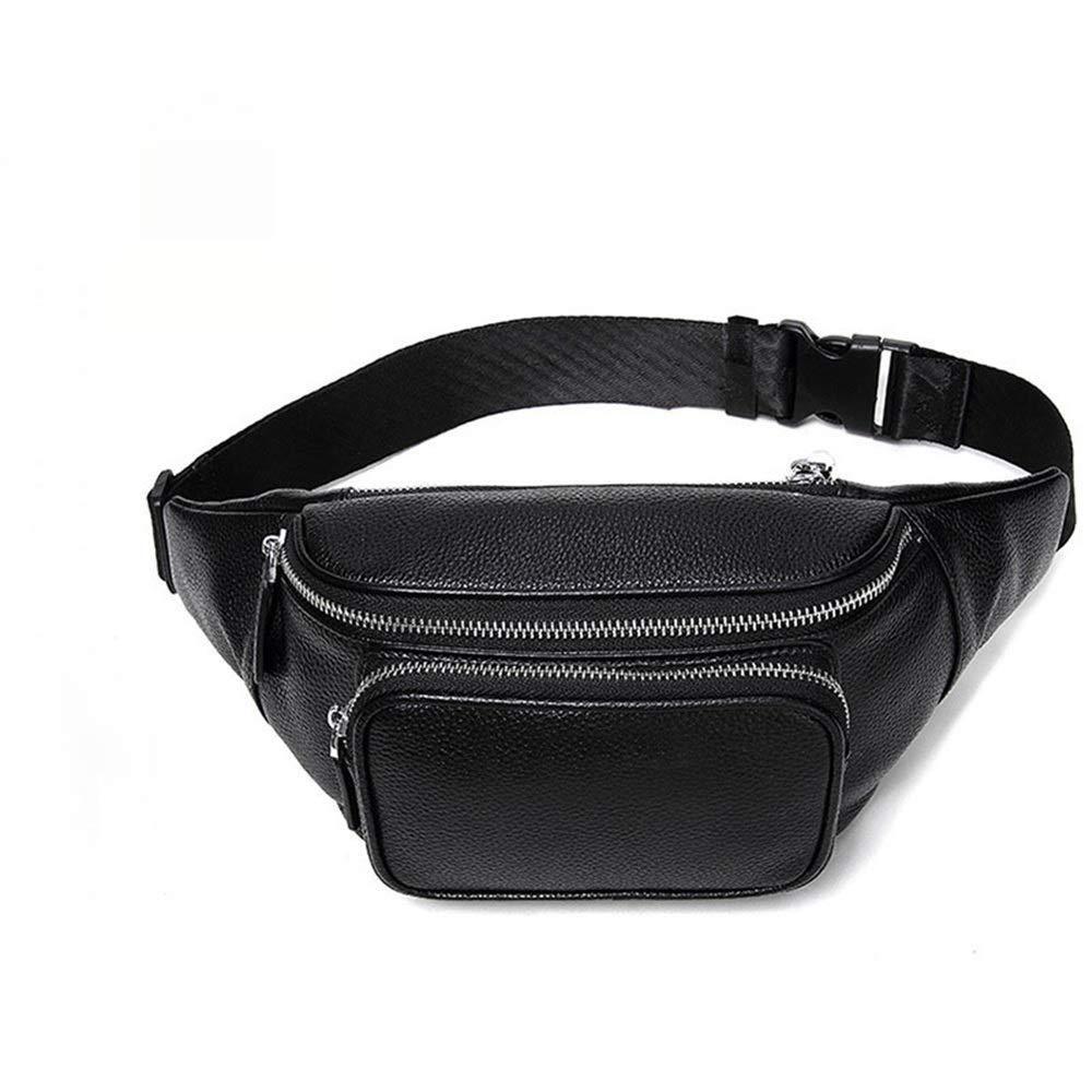 Jxth Unisex Multifunktions Workout Beutel Gürtelholster Tasche aus echtem Leder Fanny Hüfttasche Umhängetasche für Männer Boy für Fitness Outdoor Sport