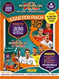2018 Panini ROAD TO THE WORLD CUP RUSSIA 2018 Adrenalyn Soccer Cards OFFICIAL STARTER KIT. Includes album, game board, two 9-card packs of cards plus a LIMITED EDITION CARD of a Star Player. From USA!