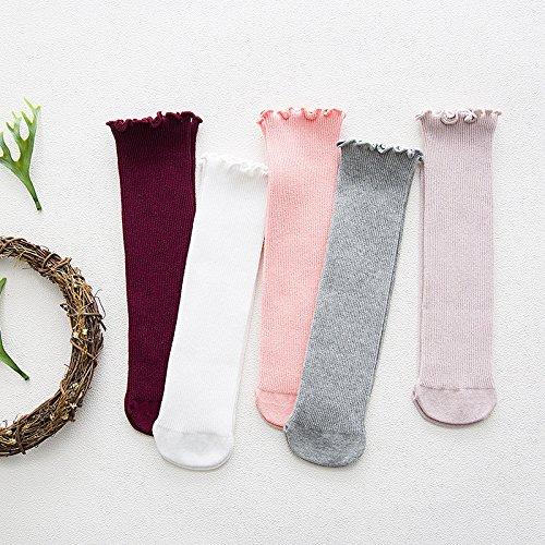 ZYTAN bambini, calze di puro cotone per bambini, calze mano calzini, calze di pelo,la miscelazione di colori,tutti i 0-8 anni 5 coppie