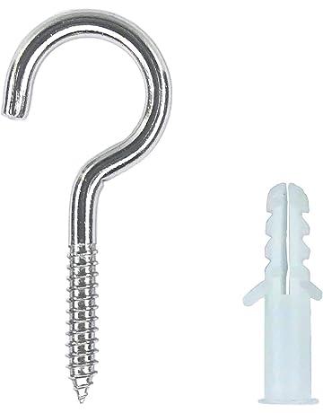 """Screw In Cup Hook Heavy Duty Large 80mm 3.5"""" Ceiling Line Wall Hooks Hangers"""