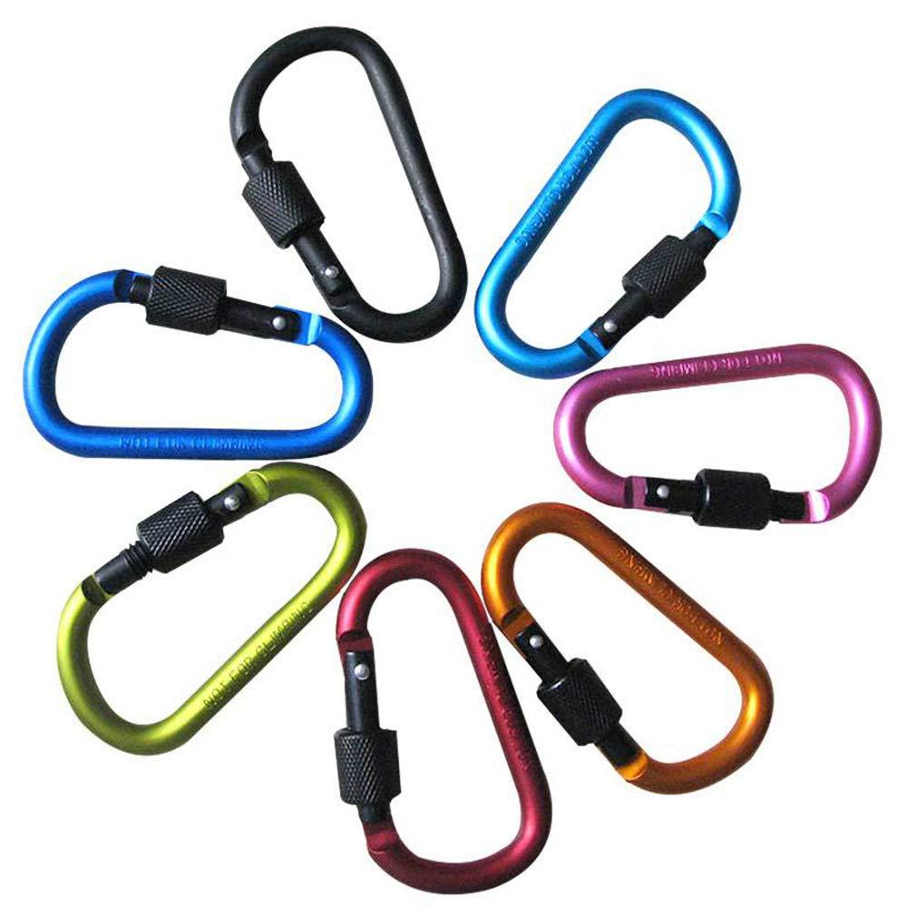 40PCS Stainless Steel Carabiner Bottle Hook Keychain Buckle Hanging Padlock Release Keyring Camping Hiking Tents Spring Snap Hook