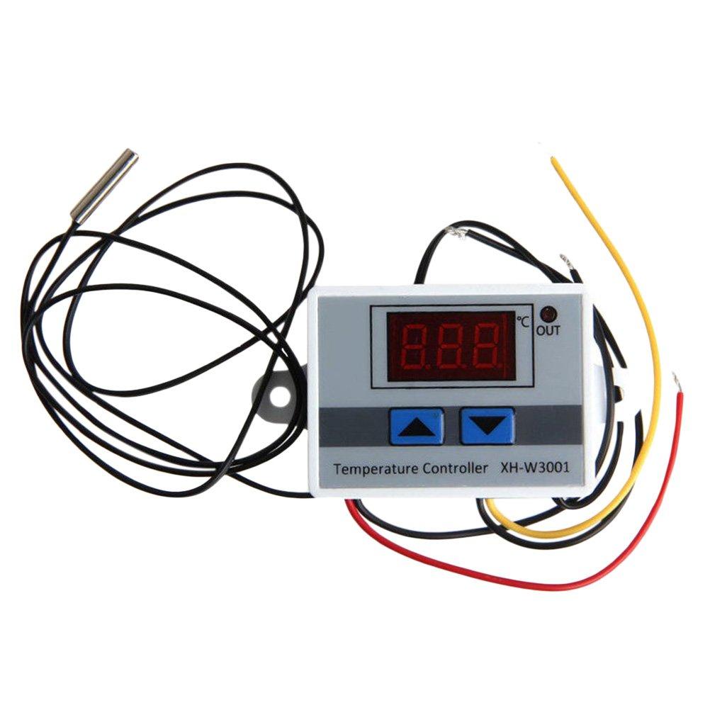 UKCOCO Regolatore di temperatura digitale per termostato 12V 120W Riscaldamento e raffreddamento per ventilconvettore centrale (bianco)
