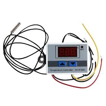 UKCOCO Controles digitales del termostato de la temperatura 24V 240W que calientan y que refrescan para