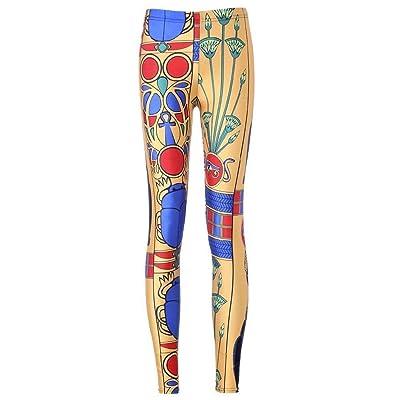 Huixin Pantalones para Mujer Impresos con Estampado Elástica Estiramiento Stretch Cintura Leggings Entrenamiento Fitness Yoga Pantalones Pantalones De Jogging: Ropa y accesorios