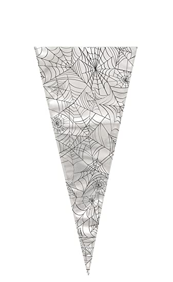 spider web halloween cone cellophane bags pack of 20 - Spider Web Halloween