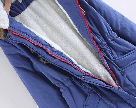 Invierno Abrigo Casual con Capucha Chaqueta de Lana Capa Jacket Parka Pullover Cintura Delgada Parka Gusspower: Amazon.es: Ropa y accesorios