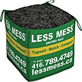 Less Mess Black Bark Mulch, 1 Cubic Yard Bag