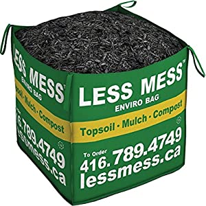 Less Mess Black Bark Mulch (Available in ON & BC)