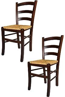 tommychairs chaise du design set de 2 chaises venezia pour la cuisine et la salle - Chaise Rustique