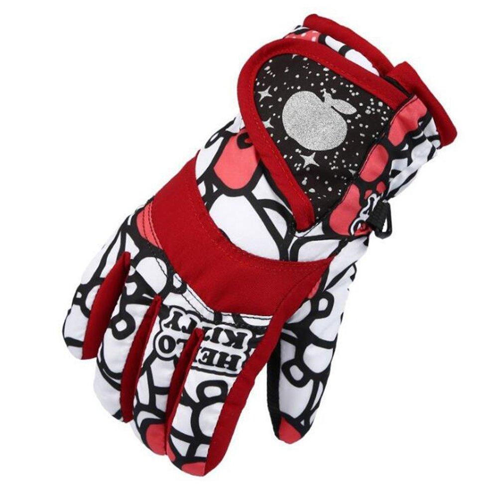 FuzzyGreen FuzzyGreenWinter Gloves for Kids Children Snow Windproof Mittens