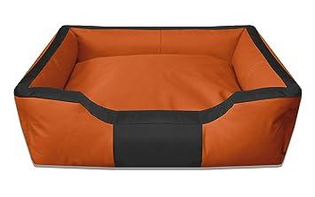 BedDog® Bruno Naranja/Negro XXXL Aprox. 150x110cm colchón para ...