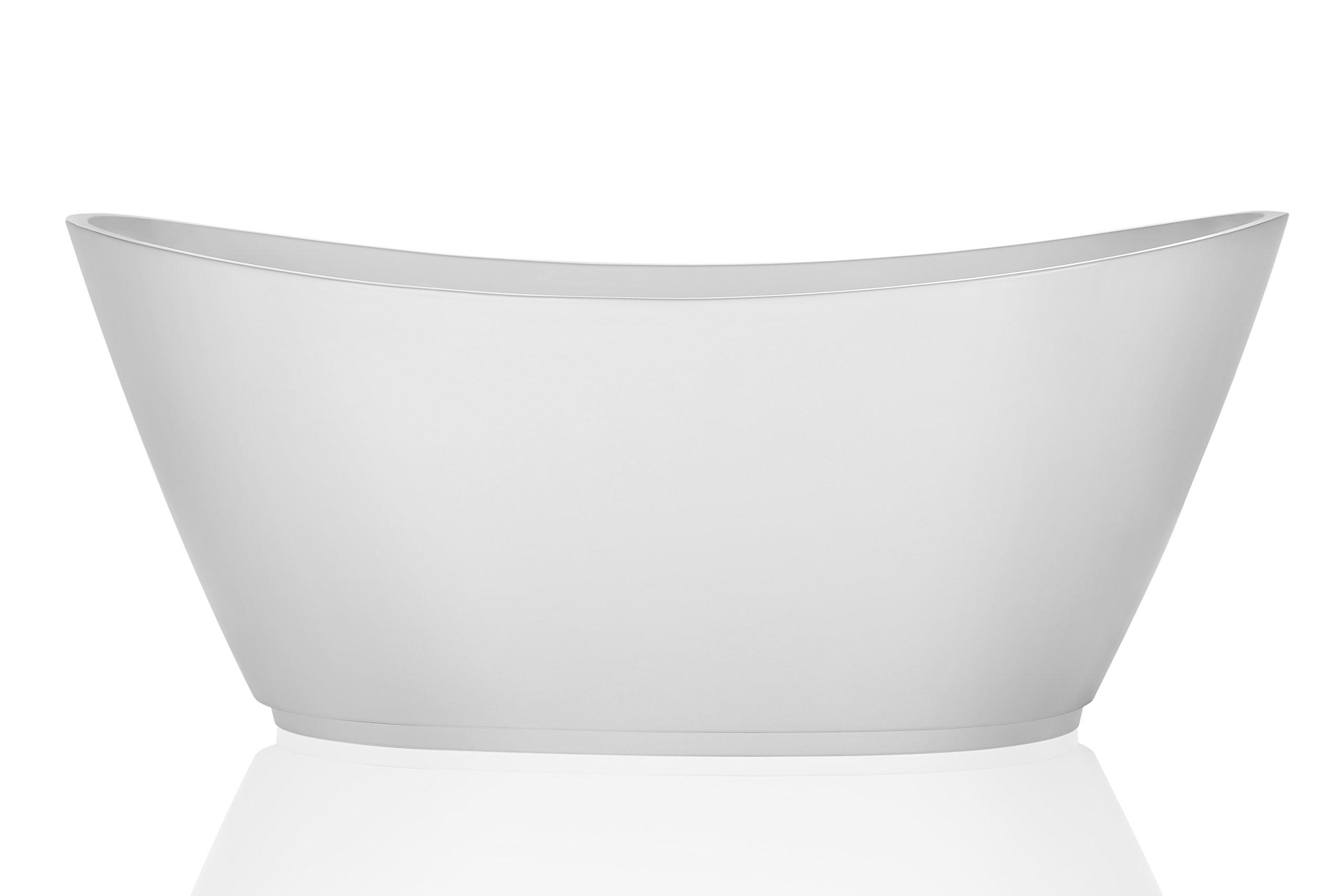 Empava 69'' Luxury Bathroom Series Acrylic Freestanding Bathtub Contemporary Soaking SPA Tub EMPV-FT1603