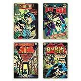 Batman Retro Comic Cover - Set Of 4 Coasters 10.2x15cm