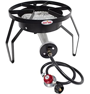 GAS ONE 200,000 BTU Single Burner Outdoor Stove Propane Gas Cooker With  Adjustable 0 20PSI
