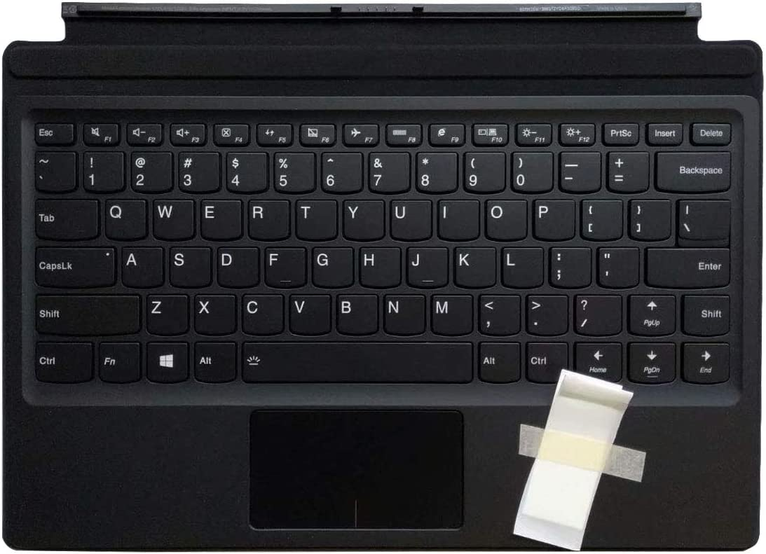 Laptop Replacement Keyboard Fit Lenovo IdeaPad MIIX 510-12 510-12ISK 8S5N20M138672YD6A305DD US Layout Backlit Small Enter Key