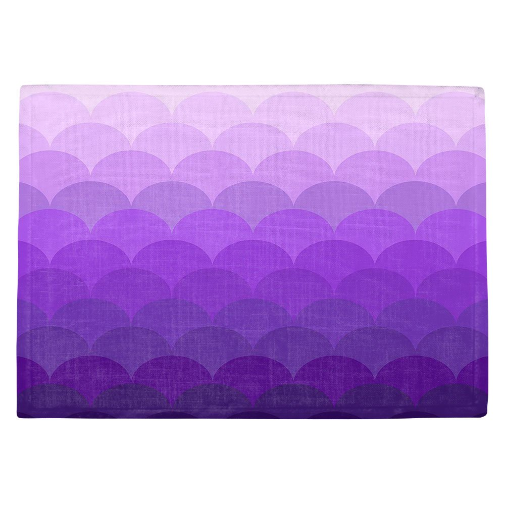 DIANOCHEキッチンPlaceマットby有機彩度パープルOmbre Scales Set of 4 Placemats PM-OrganicSaturationPurpleOmbreScales2 Set of 4 Placemats  B01EXSJL4A