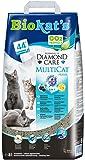Biokat's Diamond Care Multicat Fresh Katzenstreu mit Duft   staubfreie Klumpstreu mit Aktivkohle und Cotton Blossom Duft