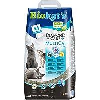 Biokat's Diamond Care Multicat Fresh Katzenstreu mit Duft – staubfreie Klumpstreu mit Aktivkohle und Cotton Blossom Duft