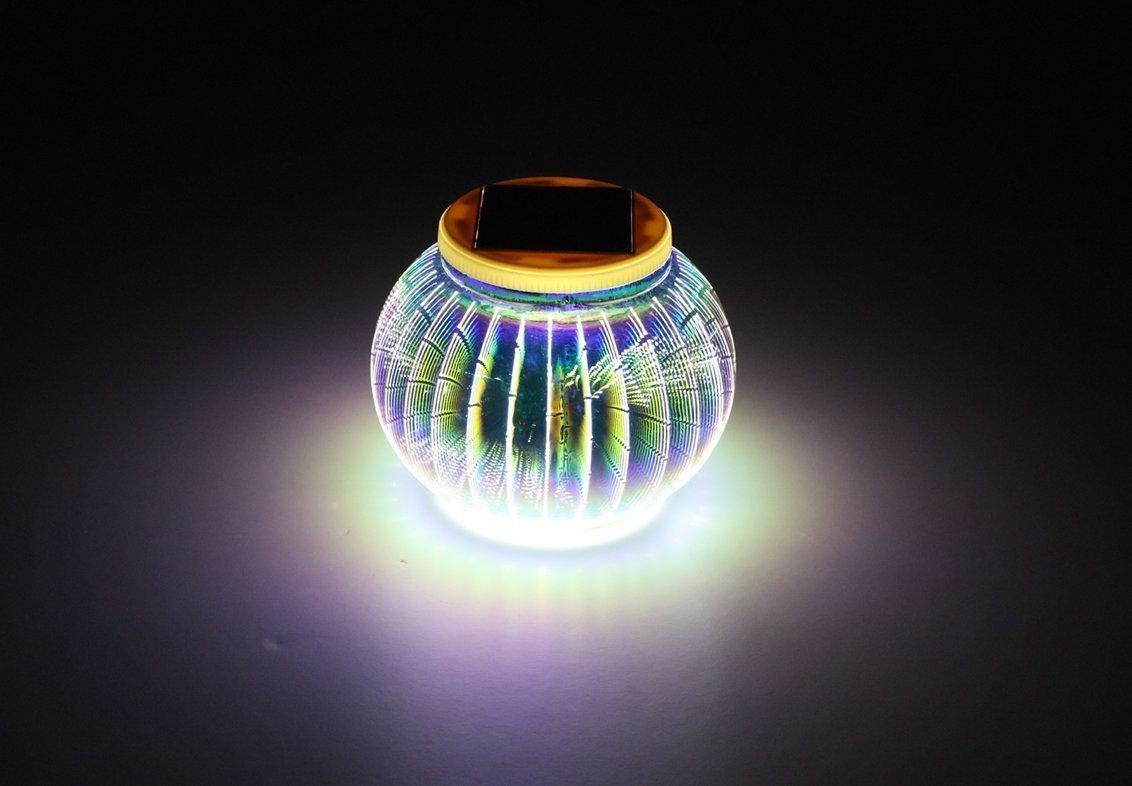 Mosaik Lampe Solar Gartenleuchten,KINGCOO Wasserdichte Farbwechsel Ball Stimmungslicht Nachtlichter Solarleuchte Tischlampe f/ür Schlafzimmer Party Terrasse Dekoration Beleuchtung Mehrfarbig