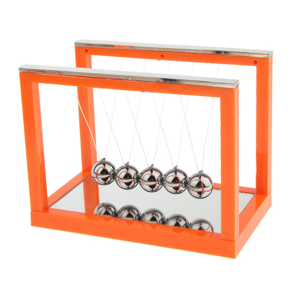 perfk Bureau Argent Pendule de Newton Jouet R/étro Emball/é Gadget Cadeau Orange