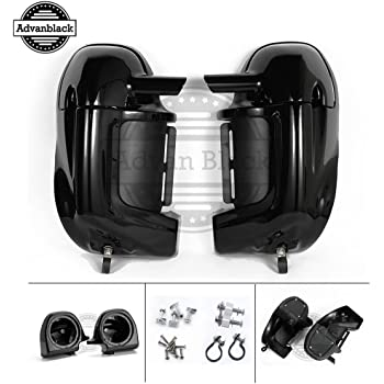 Vivid/Glossy Black Street Glide Lower Fairing Pre-Rushmore Vented Leg Warmer Kits with 6.5 inch Speaker Pods Fit for 1983-2016 Harley Davidson Touring ...