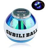 EKOOS Energyball Handtrainer mit LCD Zähler und LED Licht Wrist Trainer Ball, Autostart, transparent, Zum Training der Hand- und Armmuskulatur Rotationsball