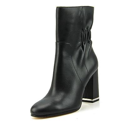 Botines Michael Kors Mujer Piel Negro y Plata 40F6URHE5LBLACK Negro 36.5EU: Amazon.es: Zapatos y complementos