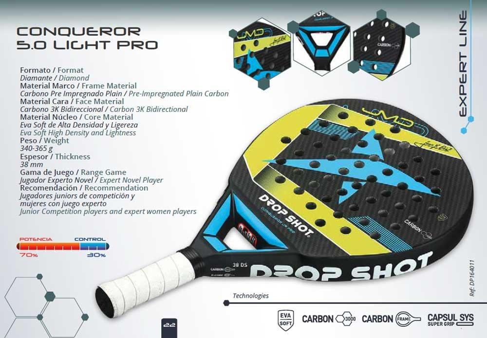 Drop Shot - Raqueta de pádel | Spire 2.0 W: Amazon.es: Deportes y aire libre