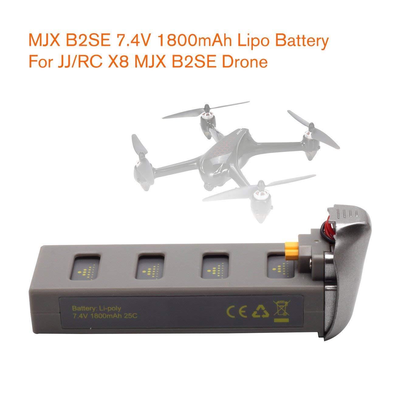 Jiobapiongxin MJX B2SE 7.4V 1800mAh batería Lipo de Alta Capacidad ...