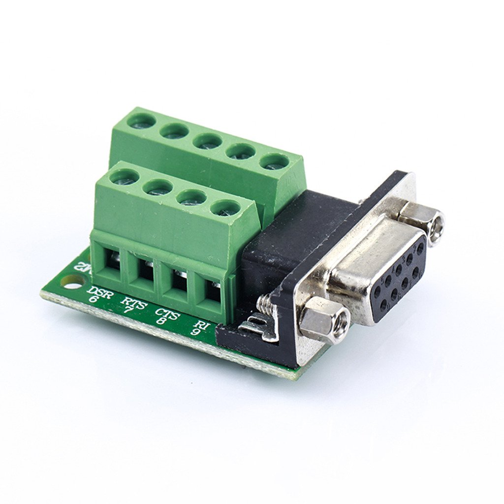 D-SUB DB9 To 9Pin Terminals Adapter RS232 Serial Breakout Board Connector Hidream