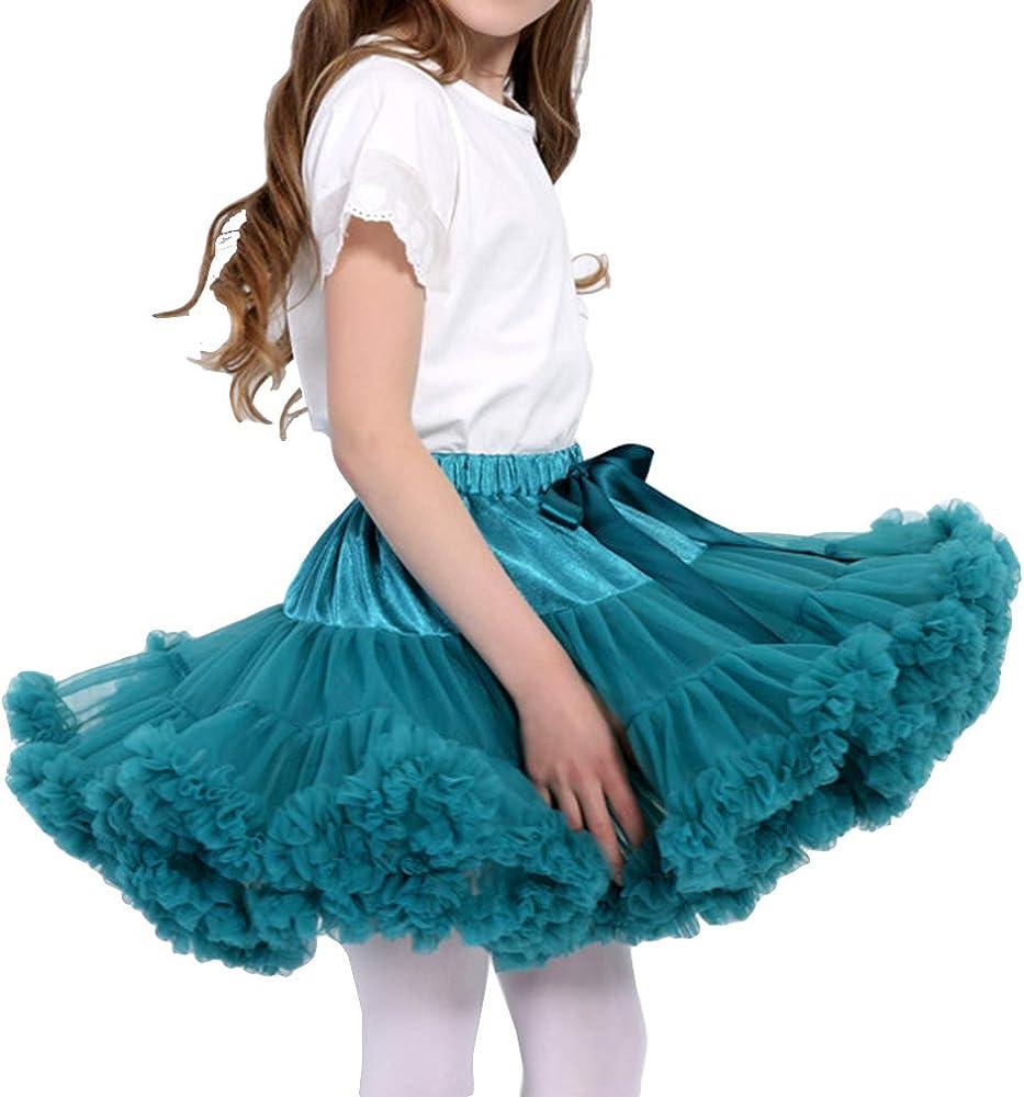 hibote Niña Falda Tutú, Princesa de Tul Ballet Danza Enaguas ...