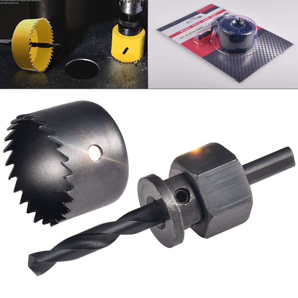 PVC 54/mm Scie-cloche kit Cl/é hexagonale et installer plaque pour planche de bois HOHXEN Scie-cloche Lot de 5/pi/èces 38 per/çage dassiette en plastique