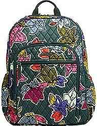 Vera Bradley Womens Campus Tech Backpack Falling Flowers Backpack