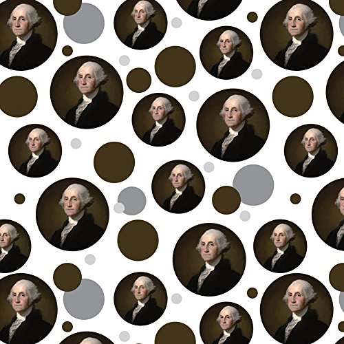 - Premium Gift Wrap Wrapping Paper Roll Pattern - American USA Flag Independence Day July 4th - George Washington Portrait