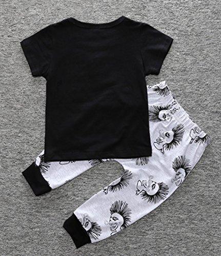 2e7d79790 Amazon.com  Toddler Baby Boy Cartoon Skull Bone Letter T-Shirt Tops+ ...