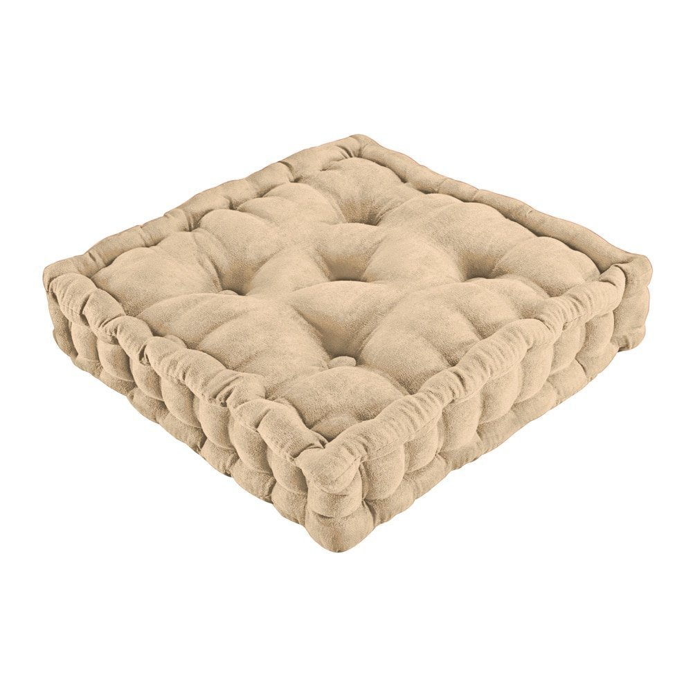 Trenton Gifts Tufted Support Padded Boosted Cushion | Natural