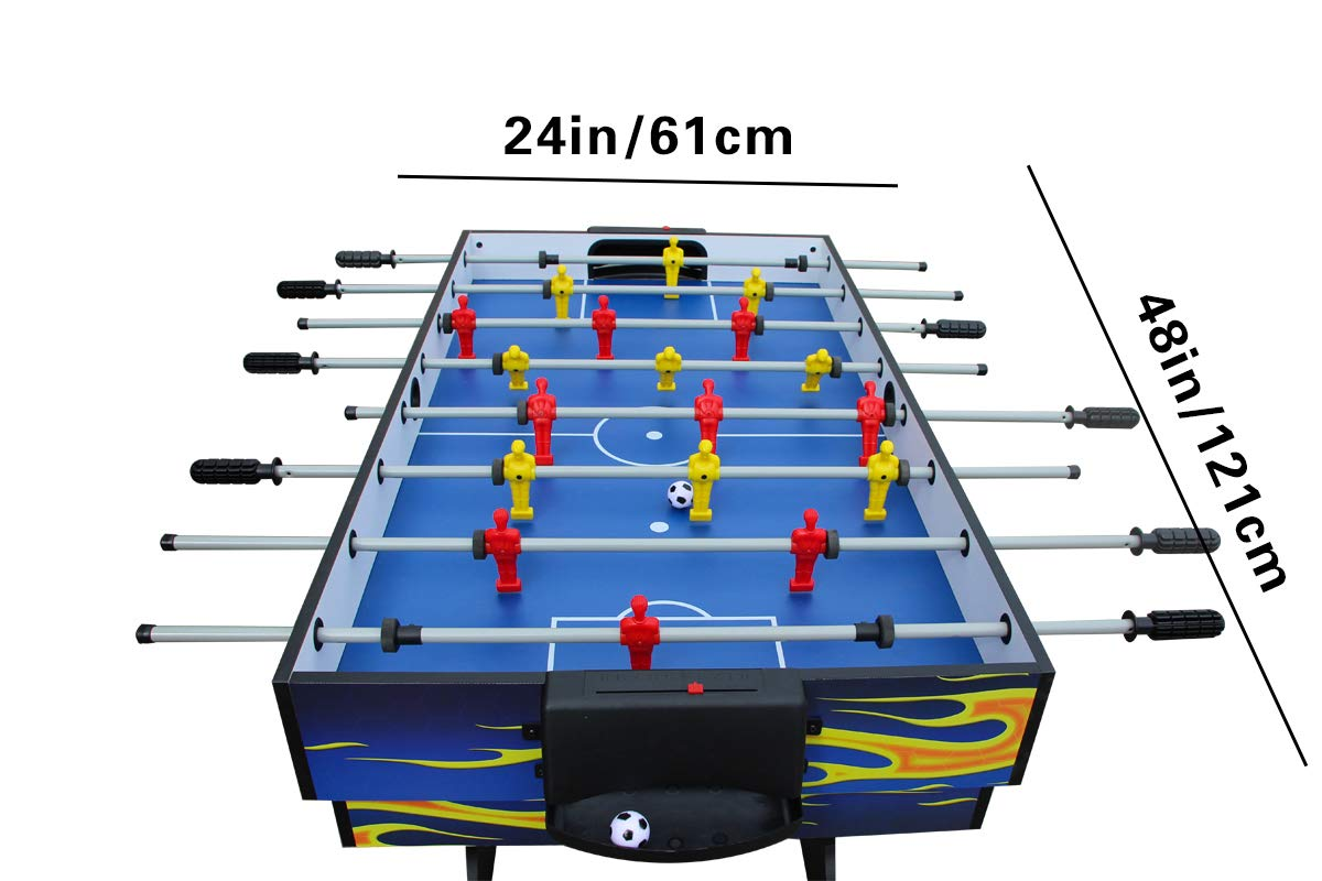 IFOYO Multi-Function 4 in 1 Steady Combo Game Table, Hockey Table, Soccer Foosball Table, Pool Table, Table Tennis Table, Yellow Flame, 48 in / 4 ft, Christams Gift by IFOYO (Image #2)