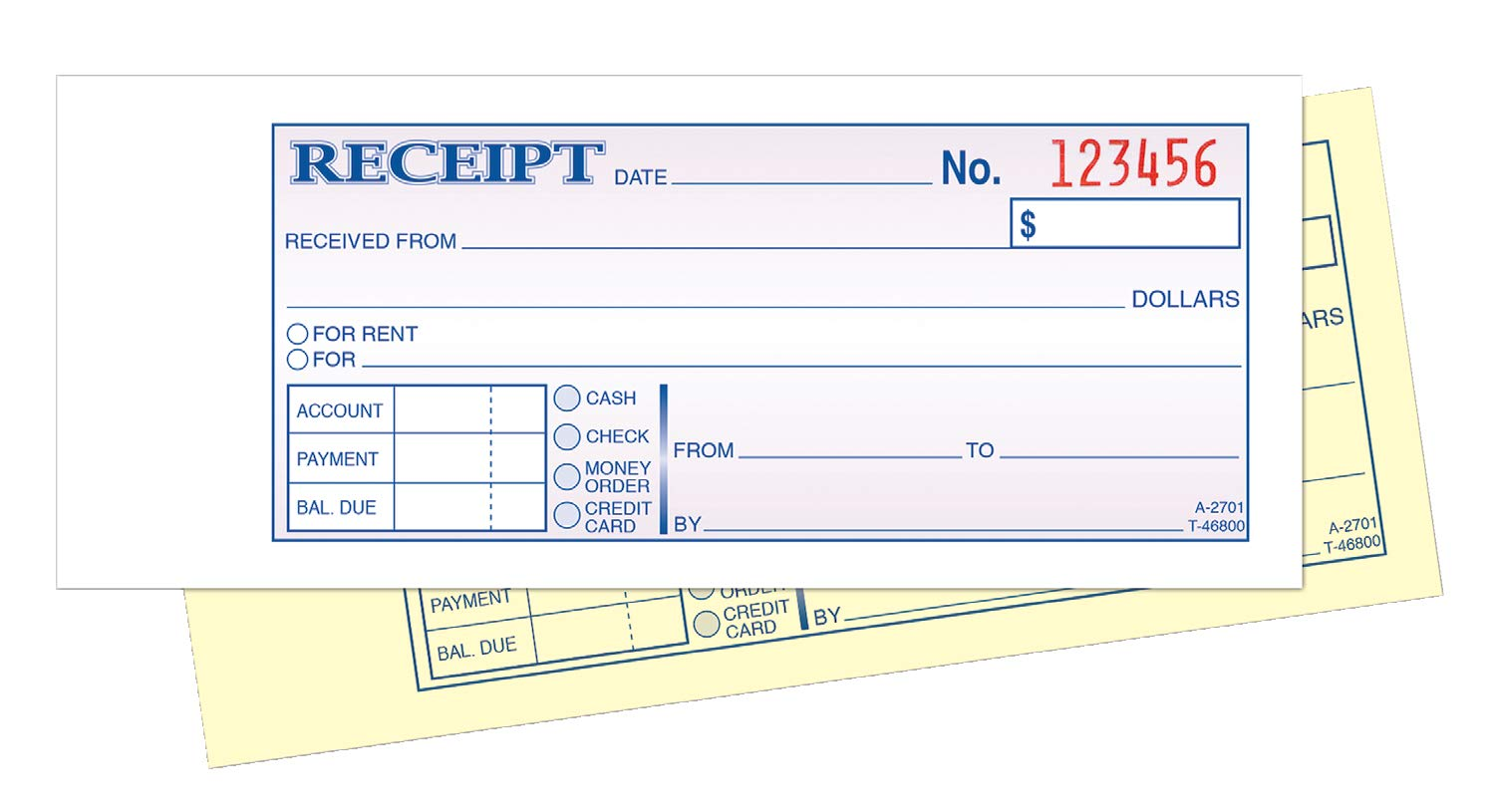 TOPS Money/Rent Receipt Book, 2-Part, Carbonless, 2.75 x 8.5 Inches, 100 Sets per Book (46800) by Tops (Image #3)
