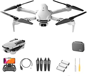 ZHZHO F10 GPS Drone, 5G WiFi FPV Drone 6K HD Camera, Live Video and GPS Return Home, RC Quadcopter for Adults Beginners with Brushless Motor, Follow Me, Helicopte Gift for Outdoor Enthusiasts